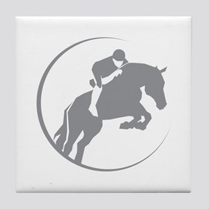 Horse Jumping Tile Coaster