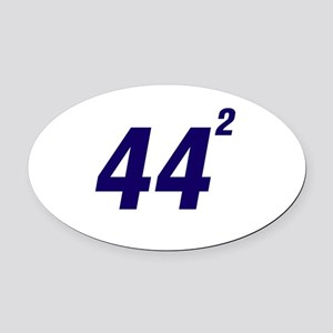 Obama 44 Squared Oval Car Magnet