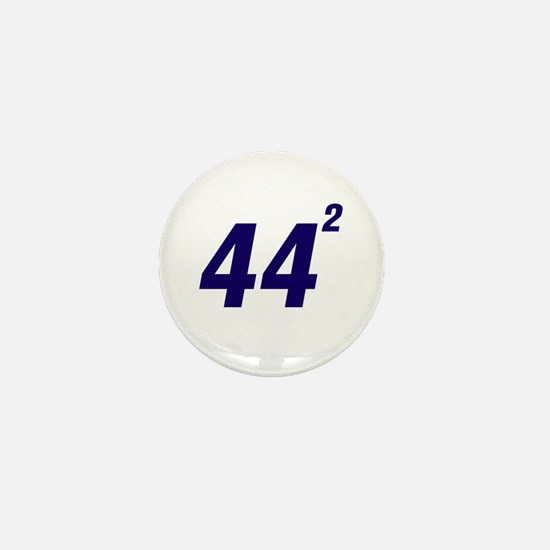 Obama 44 Squared Mini Button