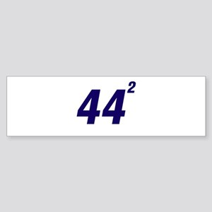 Obama 44 Squared Sticker (Bumper)