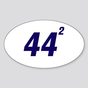 Obama 44 Squared Sticker (Oval)