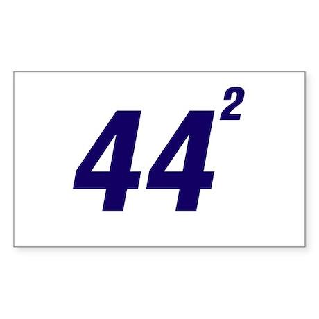 Obama 44 Squared Sticker (Rectangle)