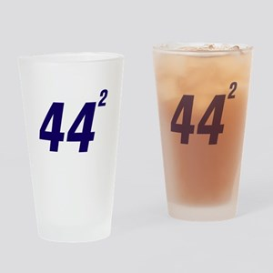 Obama 44 Squared Drinking Glass