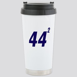 Obama 44 Squared Stainless Steel Travel Mug