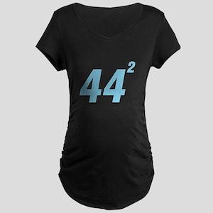 Obama 44 Squared Maternity Dark T-Shirt