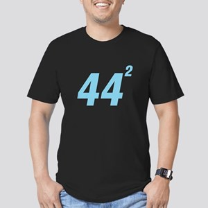 Obama 44 Squared Men's Fitted T-Shirt (dark)