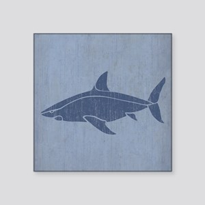 "Vintage Shark Square Sticker 3"" x 3"""