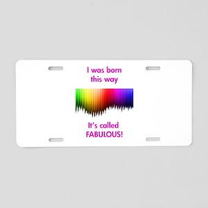 Gay Fabulous Aluminum License Plate
