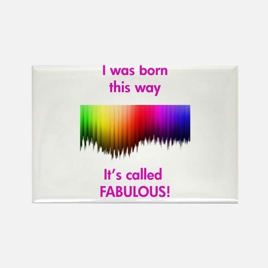 Gay Fabulous Rectangle Magnet