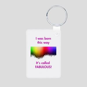 Gay Fabulous Aluminum Photo Keychain