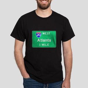 Atlanta Exit Sign Black T-Shirt