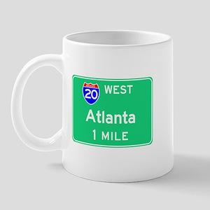 Atlanta Exit Sign Mug