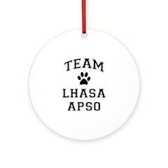 Team Lhasa Apso Ornament (Round)