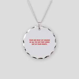 Jealous Ass Necklace Circle Charm