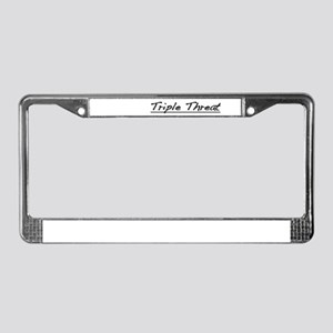 Triple Threat License Plate Frame