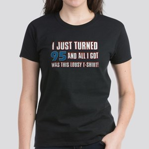 95 birthday designs Women's Dark T-Shirt