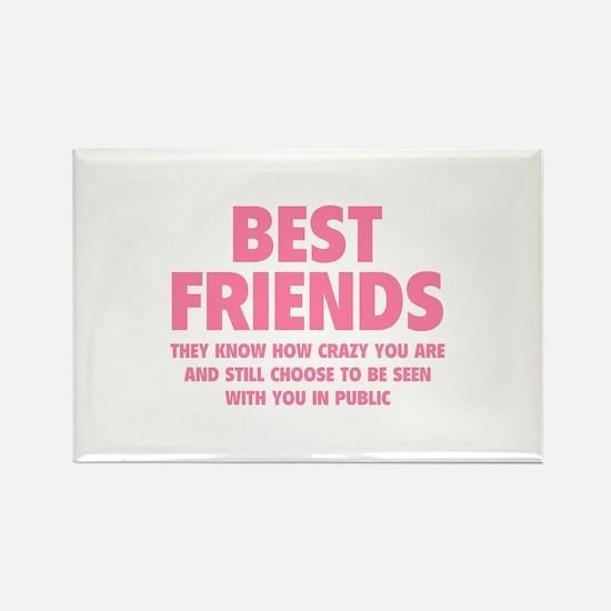 Best Friends Rectangle Magnet