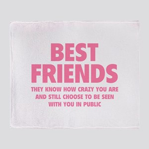 Best Friends Throw Blanket