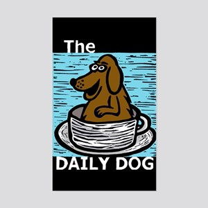 The Daily Dog Chocolate Lab Rectangle Sticker