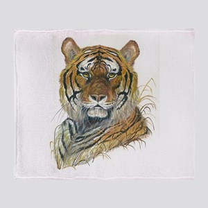 Tiger Head Throw Blanket
