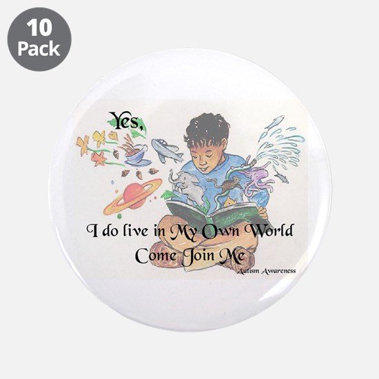 """My Own World 3.5"""" Button (10 pack)"""