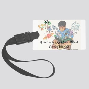 My Own World Large Luggage Tag
