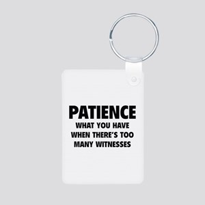 Patience Aluminum Photo Keychain