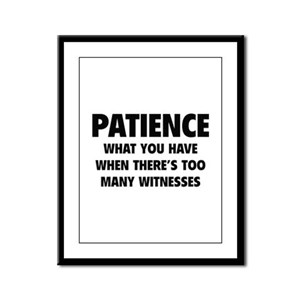 Patience Framed Panel Print