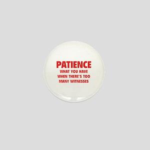 Patience Mini Button