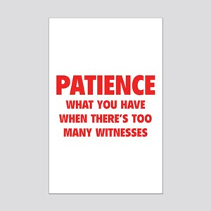 Patience Mini Poster Print