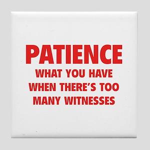 Patience Tile Coaster