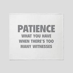 Patience Throw Blanket
