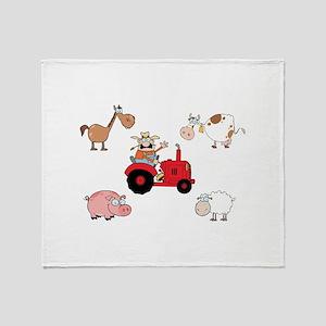 Farm Throw Blanket