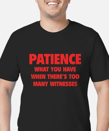 Patience Men's Fitted T-Shirt (dark)