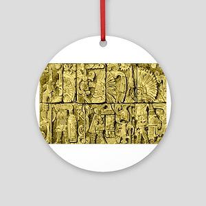 Ancient Mayan Ornament (Round)