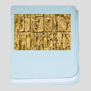 Ancient Mayan baby blanket