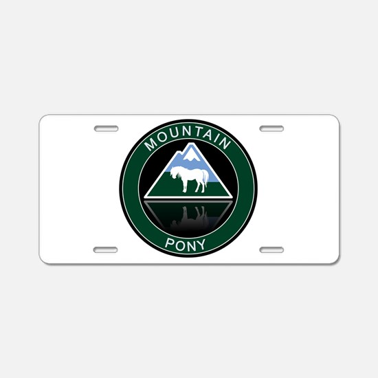 Mountain Pony Aluminum License Plate