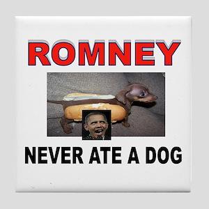 OBAMA LOVES DOGS Tile Coaster