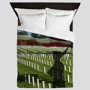 Guard at Arlington National Cemetery Queen Duvet