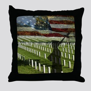 Guard at Arlington National Cemetery Throw Pillow