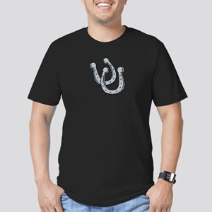 Horseshoes Men's Fitted T-Shirt (dark)