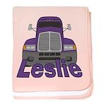 Trucker Leslie baby blanket