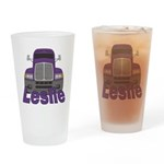 Trucker Leslie Drinking Glass