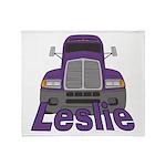 Trucker Leslie Throw Blanket