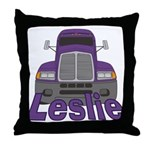 Trucker Leslie Throw Pillow