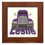 Trucker Leslie Framed Tile