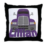 Trucker Lillian Throw Pillow