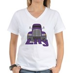 Trucker Lily Women's V-Neck T-Shirt