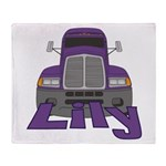 Trucker Lily Throw Blanket