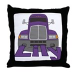 Trucker Lily Throw Pillow